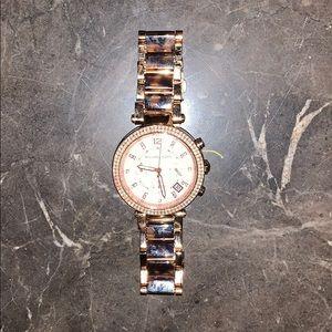 Rose gold Tortoise shell Michael Kors watch